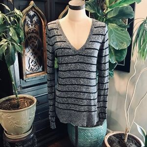 Mossimo rayon Blend v-neck stripe Marled sweater